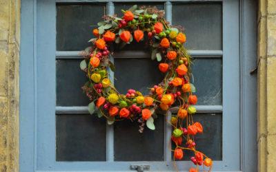 Hübsche Herbst-Deko mit Lampionblumen
