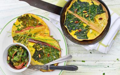 Mangold-Crêpes mit Salat